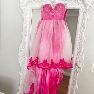 DREAMY Pink Victorian Bustier PARTY Dress